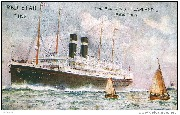 Red Star Line. Twin-Screw ''Lapland'' 18694 Tons