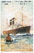 Red Star Line. Triple-Screw ''Pennland'' (ex ''Pittsburgh'') 16332 Tons.